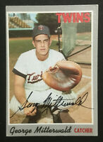 George Mitterwald Twins signed 1970 Topps baseball card #118 Auto Autograph