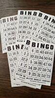 32 Vintage Milton Bradley Bingo Game Cards Numbered 67-99 Ephemera