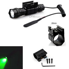 Tactical Hunting Green Light Flashlight with 20mm Standard Picatinny Rail Mount