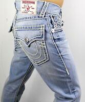 True Religion Men's Hand Picked Ropestitch Straight Super T Jeans - 100660