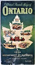 ONTARIO CANADA OFFICIAL AUTOMOBILE HIGHWAY ROAD MAP 1956 VINTAGE TRAVEL