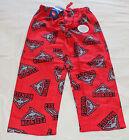 Essendon Bombers Logo AFL Boys W16 Red Printed Flannel Sleep Pants Size 14 New