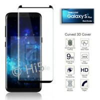 For Samsung Galaxy S9 Plus - 100% Genuine Tempered Glass Screen Protector Black