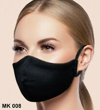 Facemask Black 3 COUNT Washable Reusable with Pocket Filter