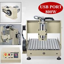 4 Axe CNC Router Engraver Machine USB Gravure Drilling Milling VFD MACH3 3040