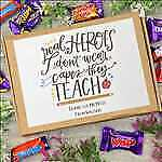 Real Heroes Don't Wear Capes, They Teach, Chocolate Heroes Box