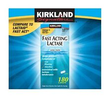 NEW Kirkland Signature™ Fast Acting Lactase Enzyme Lactaid 180 Caplets