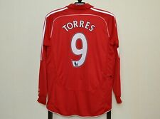 LIVERPOOL ENGLAND 2006/2007/2008 HOME FOOTBALL SHIRT #9 TORRES L/S ADIDAS SIZE L