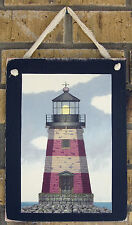 Lighthouses Country Hanging Wall Plaques Primitive Rustic Lodge Decor Set of 3