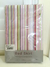 Signoria Firenze Italy Stripe 3 Panel Cal King Bedskirt Soft 100% Cotton $240