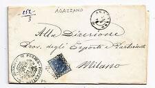 J764-EMILIA-PIACENZA-AGAZZANO ANNULLO NUMERALE A PUNTI 1876