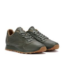 REEBOK BOY'S CLASSIC LEATHER SNEAKERS (OLIVE colour) Size 36.5EU