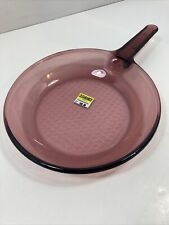 """Visions Corning Amber Skillet Frying Pan Cookware 10"""" Pyrex New Old Stock"""