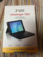 ZAGG Messenger Folio Case and Bluetooth Keyboard for Samsung Galaxy Tab A 8.0
