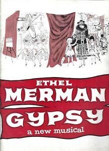 Gypsy Souvenir Program, Ethel Merman, Jack Klugman, Sandra Church, New York 1959