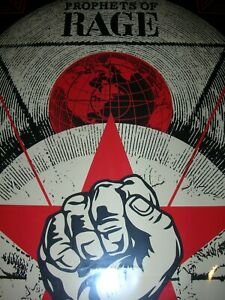 Shepard Fairey Poster OBEY Prophets of Rage 2017 Signed Silk Screen Print