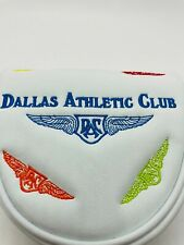Dallas Athletic Club Members Leather Magnetic Mallet Putter Headcover Mint Rare