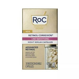 RoC Retinol Correxion Line Smoothing Night Serum Capsules - 30ct