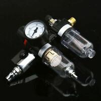 Air Pressure Regulator Oil Water Separator Trap Filter Airbrush Compressor Tools