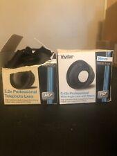 VIVITAR 52mm lens kits .43x wide angle + Macro & 2x2 Telephoto, BOTH! Open Box