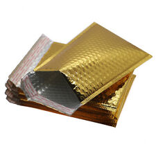 More details for cd dvd gift shiny metallic foil bubble wrap lined padded mailing bags envelopes