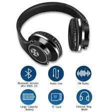 Pliable Bluetooth Stéréo Casque Écouteur Headset Sans Fil SD Card/FM Radio/Aux