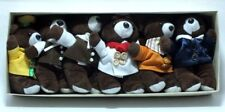 Crowne Plaza Hotel Nanjing China Souvenir Gift Boxed Set of 6 Plush Bears