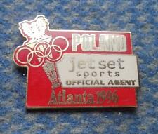 NOC POLAND OLYMPIC ATLANTA 1996 - JET SET SPORTS ENAMEL PIN BADGE