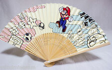 Super Mario Bros. Club Nintendo Limited Mario Sensu Folding fan JAPAN GAME