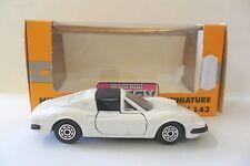 NOREV 1:43 AUTO DIE CAST CAR FERRARI 246 GTS BIANCO WHITE CON SCATOLA  ART 1972