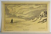 """15"""" Antique 1902 Print Charles Dana Gibson """"When A Man's In Love"""" Women Dreams"""