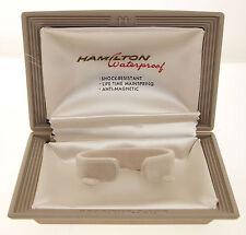 """ORIGINAL HAMILTON ETUI / BOX z.B """"VENTURA"""" - MIT SAMT UND SEIDE - 1950er Jahre"""