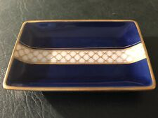 French Limoges Cobalt Blue Miniature Pin Dish