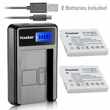 Kastar Battery and LCD Slim USB Charger for Canon NB-4L PowerShot SD ELPH series