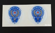 2x 3d polizia turca STEMMA Decorazione Sticker Turchia Göktürk selcuklu Turk Polis