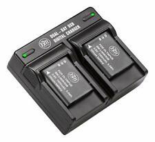 BM Premium Battery (2-Pack) and Dual Charger for Olympus LI90B, LI92B