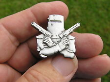 NED KELLY VEST PIN ANTIQUE SILVER BADGE *Limited Edition* Suit Harley Davidson