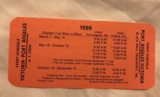 1996 Ferry Schedule Victoria-Port Angeles Effective May 16