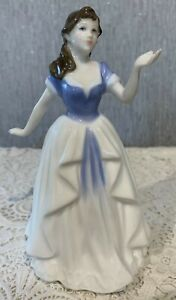 ROYAL DOULTON LADY WITH ALL MY LOVE  MODEL No. HN 4213  BLUE & WHITE DRESS