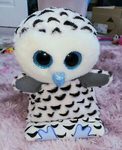 TY Peek A Boo Collection Large Tablet Holder Cuddly Plush Owl Screen Cleaner