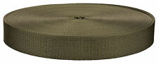 1 Inch Olive Drab Green 7 Lite Weight Nylon Webbing Closeout, 100 Yards
