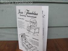 1970 Ideal Kissin THUMBELINA Doll operating INSTRUCTIONS (Reproduction)