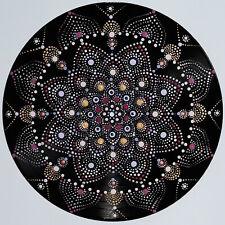 disc-mandala 11 / vinyl record mandala art handmade painting