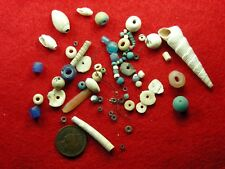 COLUMBIA RIVER TRADE STONE and SHELL BEADS