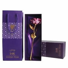 Goldene Gold Rose mit 24K Gold Vergoldet Muttertag Geburtstag X'mas Geschenk【DE】