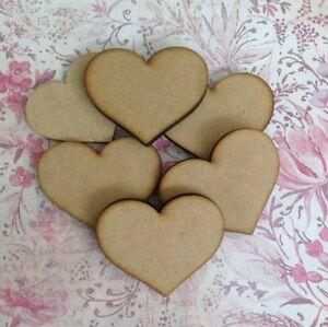 Wooden Hearts, Wedding Guest Book Drop Box Supplies, MDF Heart Shape.5cm x 4cm
