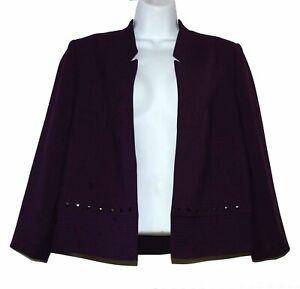 Tahari Arthur S. Levine Royal Purple Women's Jacket Blazer Suit 1 Piece Size 6