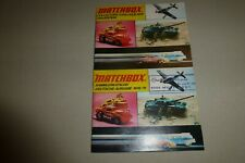 Matchbox Collector's Catalog lot of 2 vintage 1974 Superfast/Lesney/USA/German
