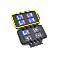 JJC MC-SD8 Card Case hält 8 x SD-Karte, Rubber Seal wasserfeste Leichtgewicht