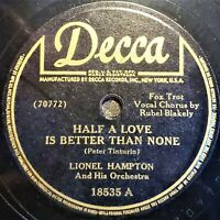 Lionel Hampton And His Orch | Half A Love Is Better Than None‎ | Decca EP 1942